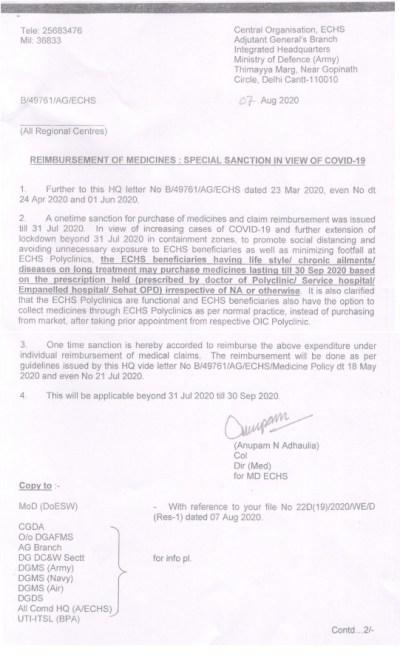 Reimbursement of Medicines