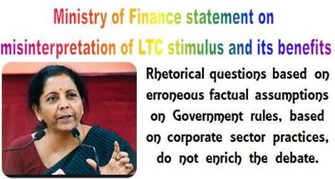 Misinterpretation of LTC stimulus and its benefits – Statement by Ministry of Finance