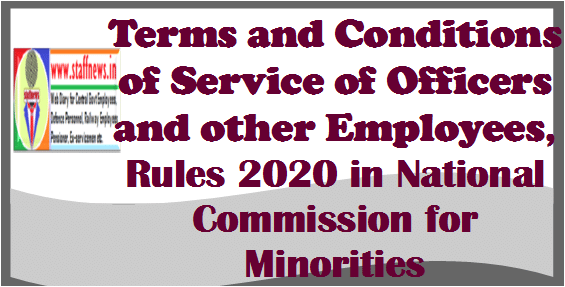 terms-and-conditions-of-service-of-officers-and-other-employees-rules-2020-in-national-commission-for-minorities