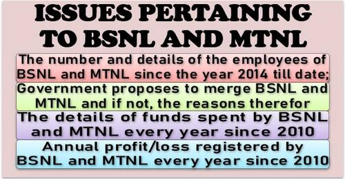 Issues pertaining to BSNL and MTNL: Details of employees since the year 2014, expenditure, profit/loss and status of merger
