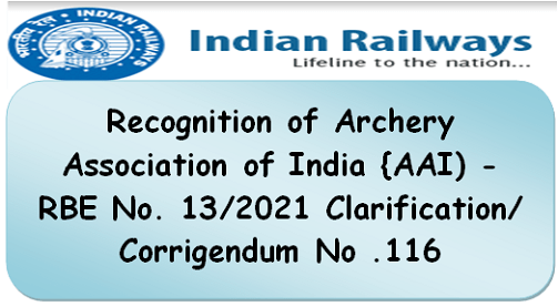 recognition-of-archery-association-of-india-aai-rbe-no-13-2021-clarification-corrigendum-no-116