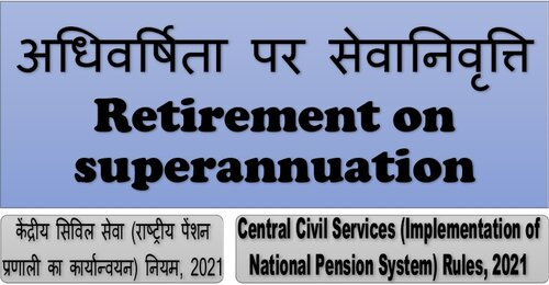 Retirement on superannuation– Rule 11 of Central Civil Services (NPS) Rules, 2021