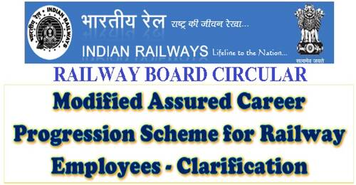 Modified Assured Career Progression Scheme for Railway Employees – Clarification: RBE No. 33/2021