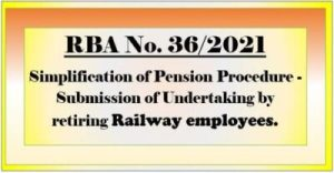 submission-of-undertaking-by-retiring-railway-employees