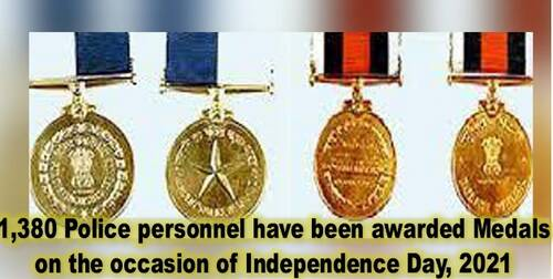 Police Medals (PPMG, PMG, PPM & PM) on the occasion of Independence Day, 2021