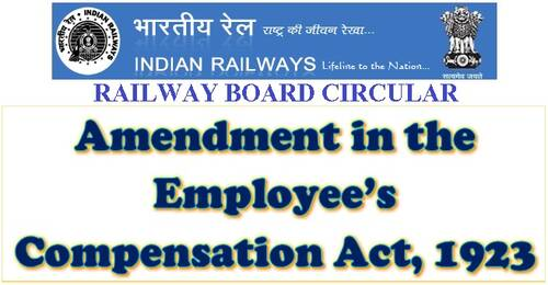Amendment in the Employee's Compensation Act, 1923: Railway Board Order RBE No. 64/2021