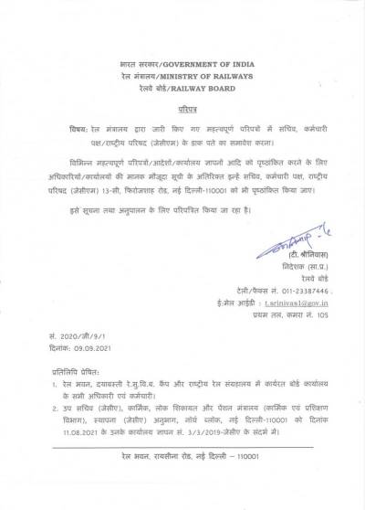 inclusion-of-mailing-address-of-secretary-staff-side-national-counciljcm-in-important-circulars-issued-by-ministry-of-railways