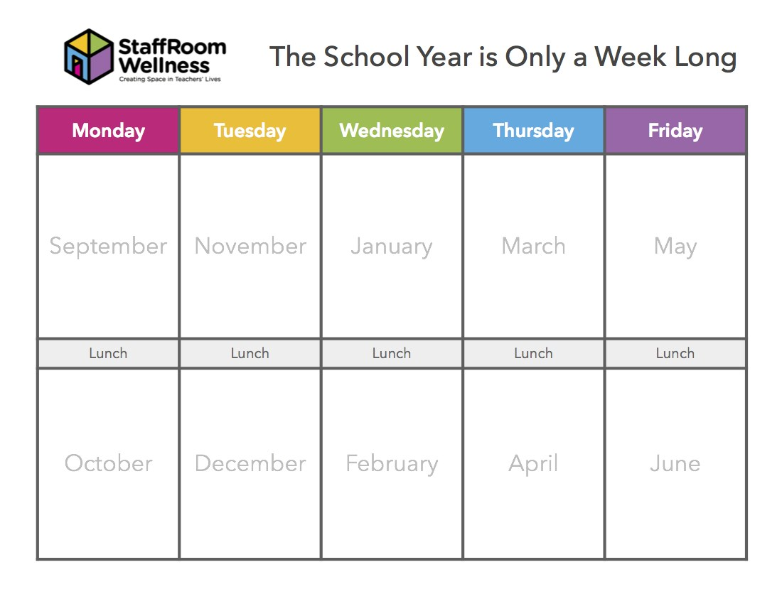 The Year As A Week Celebration Sheet