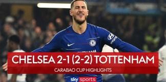 Chelsea Vs Tottenham 2-1 Carabao Cup Semi-Final Highlights