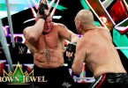 Brock Lesnar and Cain Velasquez Exchange blows: WWE Crown Jewel 2019