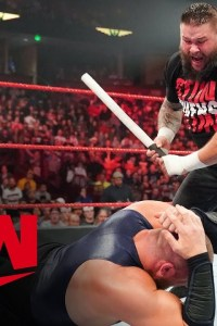 Kevin Owens unloads on Mojo Rawley with steel pipe – MONDAY NIGHT RAW