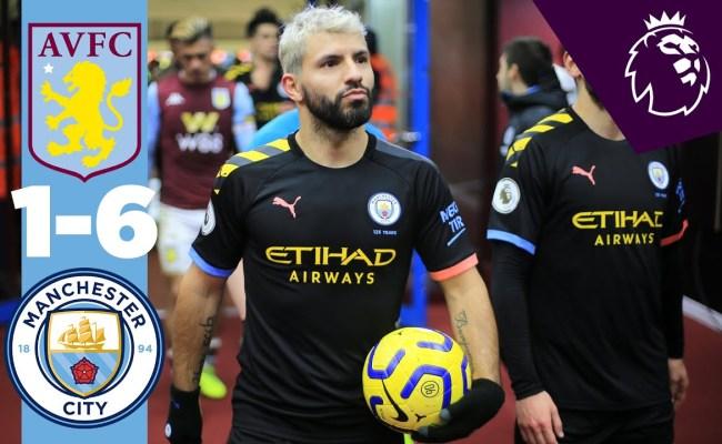 Aston Villa Vs Manchester City 1 6 Goals And Full