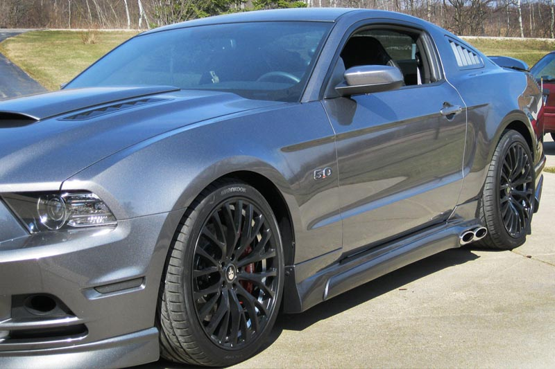 2013 2014 mustang cervini s complete side exit exhaust system 8056