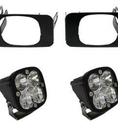 2017 2019 f250 f350 baja designs squadron sport driving combo off road led fog light kit includes mounts  [ 1200 x 900 Pixel ]
