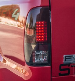 1999 2007 f250 f350 recon smoked led taillights  [ 1200 x 800 Pixel ]