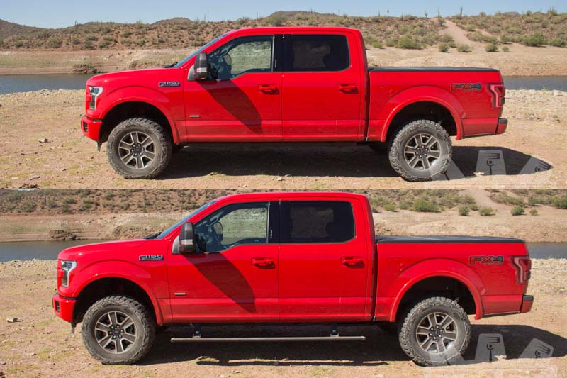 medium resolution of 2015 2018 f150 raptor amp research powerstep plug n play running boards w light kit