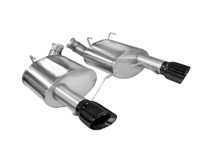 2011 2014 mustang gt corsa xtreme axle back exhaust kit black tips 14317blk