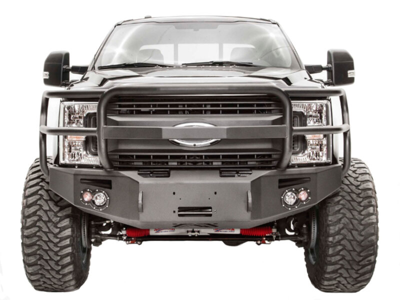 hight resolution of 2017 2019 f250 f350 fab fours premium winch ready front bumper with full