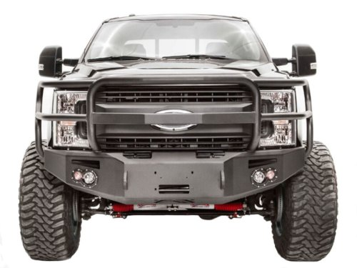 small resolution of 2017 2019 f250 f350 fab fours premium winch ready front bumper with full