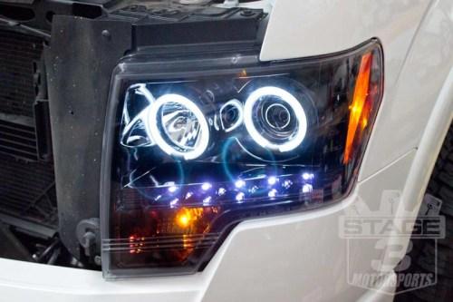 small resolution of 2009 2014 f150 raptor recon projector headlights w ccfl halos smoked 264190bkcc