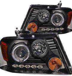 add to my lists 2004 2008 f150 anzo dual halo projector headlights  [ 1200 x 900 Pixel ]