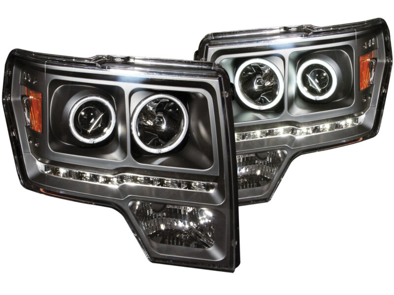 medium resolution of 2009 2014 f150 raptor anzo g2 ccfl halo projector headlights black