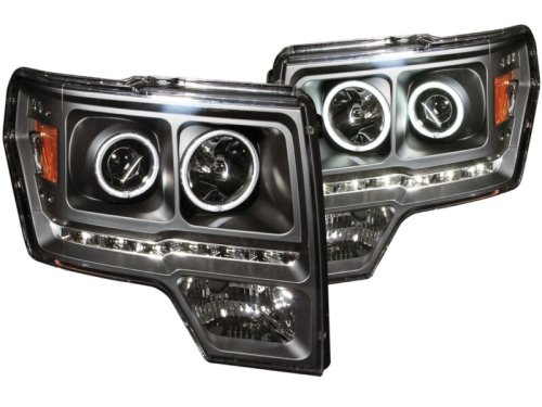 small resolution of 2009 2014 f150 raptor anzo g2 ccfl halo projector headlights black