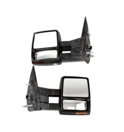 2007 2014 f150 tow mirrors with puddle lights black textured  [ 1200 x 800 Pixel ]