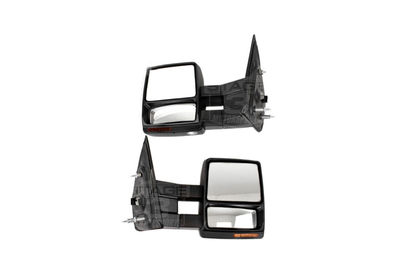 hight resolution of 2007 2014 f150 tow mirrors with puddle lights black textured