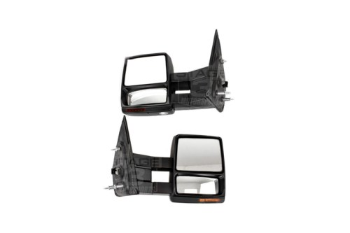 small resolution of 2007 2014 f150 tow mirrors with puddle lights black textured