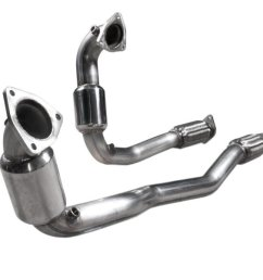 2010 2018 taurus sho 3 5l ecoboost stainless works catted downpipes 01  [ 1200 x 900 Pixel ]