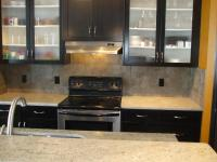 Black Kitchen Cabinets with Glass Doors - Home Furniture ...