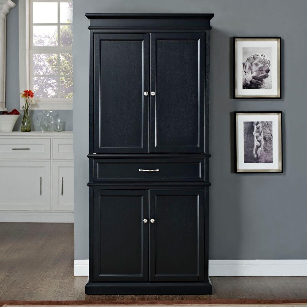 Black Pantry Cabinet
