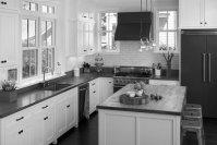Black and White Kitchen Cabinets - Home Furniture Design