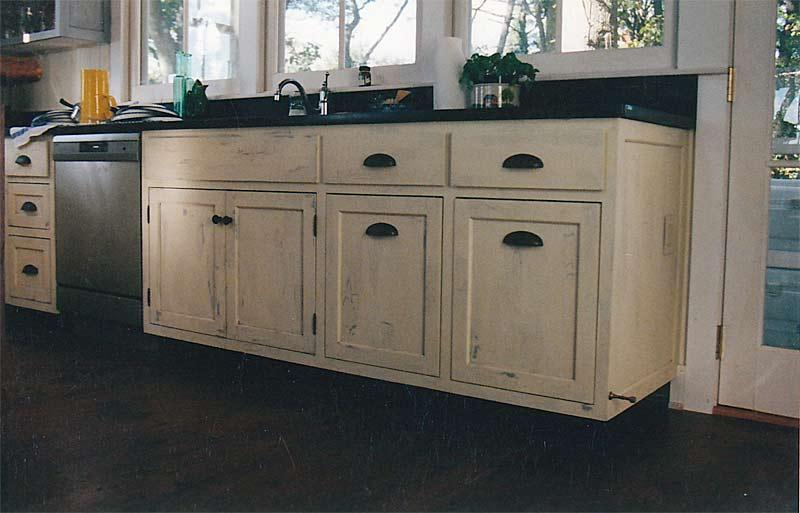 Distressed White Kitchen Cabinets  Home Furniture Design