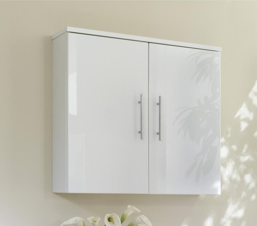 Gloss White Bathroom Wall Cabinet