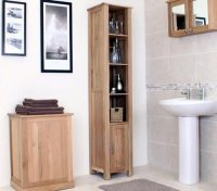 OAK Bathroom Storage Cabinet - Home Furniture Design