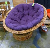 Purple Papasan Chair - Home Furniture Design