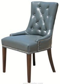 Tufted Leather Dining Chair - Home Furniture Design