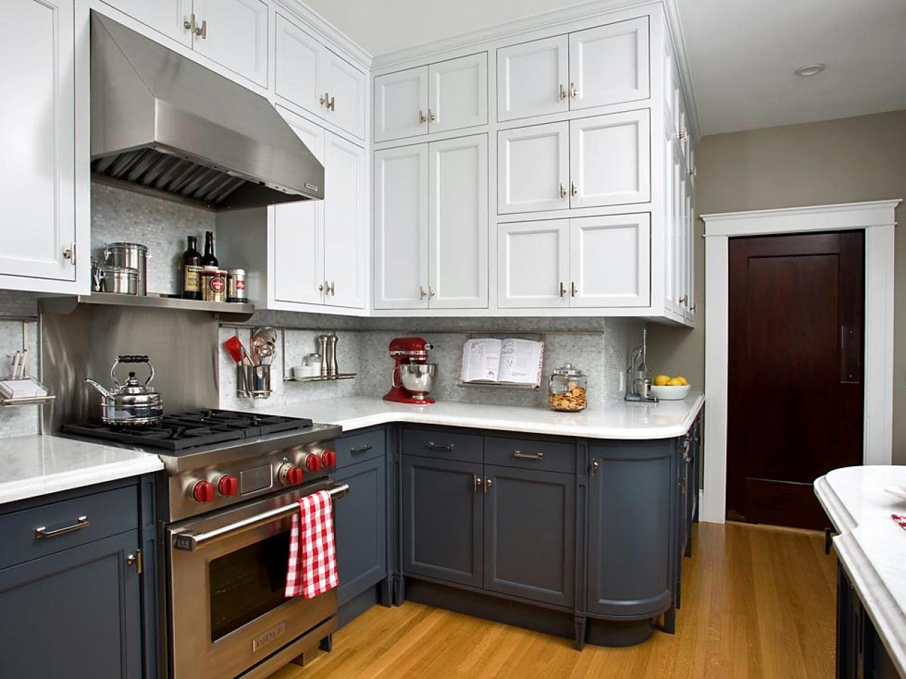 colored kitchen cabinets ellas baby food two color home furniture design