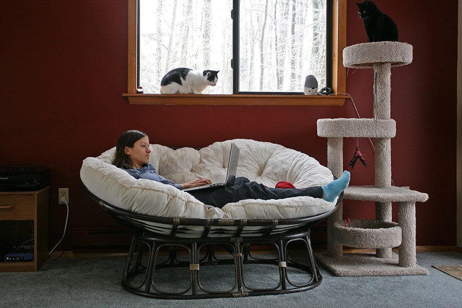 Used Papasan Chair  Home Furniture Design