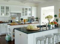 White Beadboard Kitchen Cabinets - Home Furniture Design