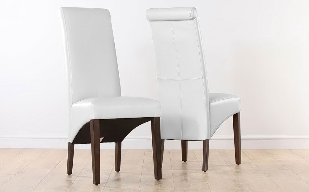 white dining room chairs. white leather dining room chairs