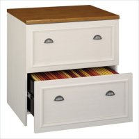 White Wood Lateral File Cabinet