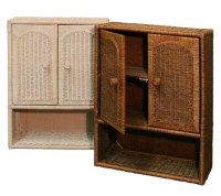 Wicker Bathroom Wall Cabinet - Home Furniture Design