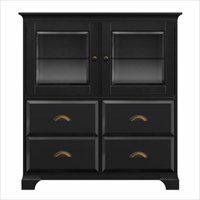 Black Wood Storage Cabinet
