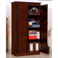 Dark Wood Storage Cabinet - Home Furniture Design