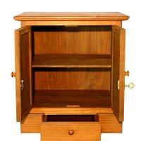 Locking Wood Storage Cabinet - Home Furniture Design