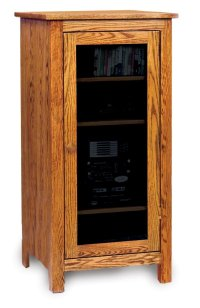 Wood Audio Cabinet - Home Furniture Design