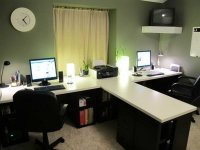 2 Person Desk for Home Office - Home Furniture Design
